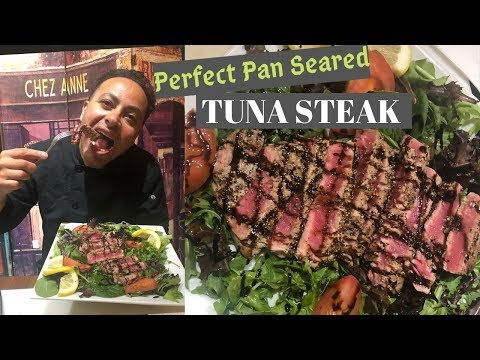 How to Cook Perfect Pan Seared TUNA STEAK - マグロのたたきステーキ - สเต็กปลาทูน่า – Quick & Easy Dinner