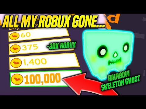I Spent ALL My ROBUX Trying To Get The RAINBOW SKELETON GHOST IN PET SIMULATOR (Roblox)