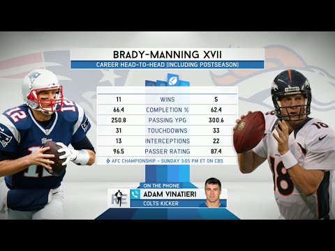 Colts Placekicker Adam Vinatieri Talks Tom Brady vs. Peyton Manning XVII - 1/21/16