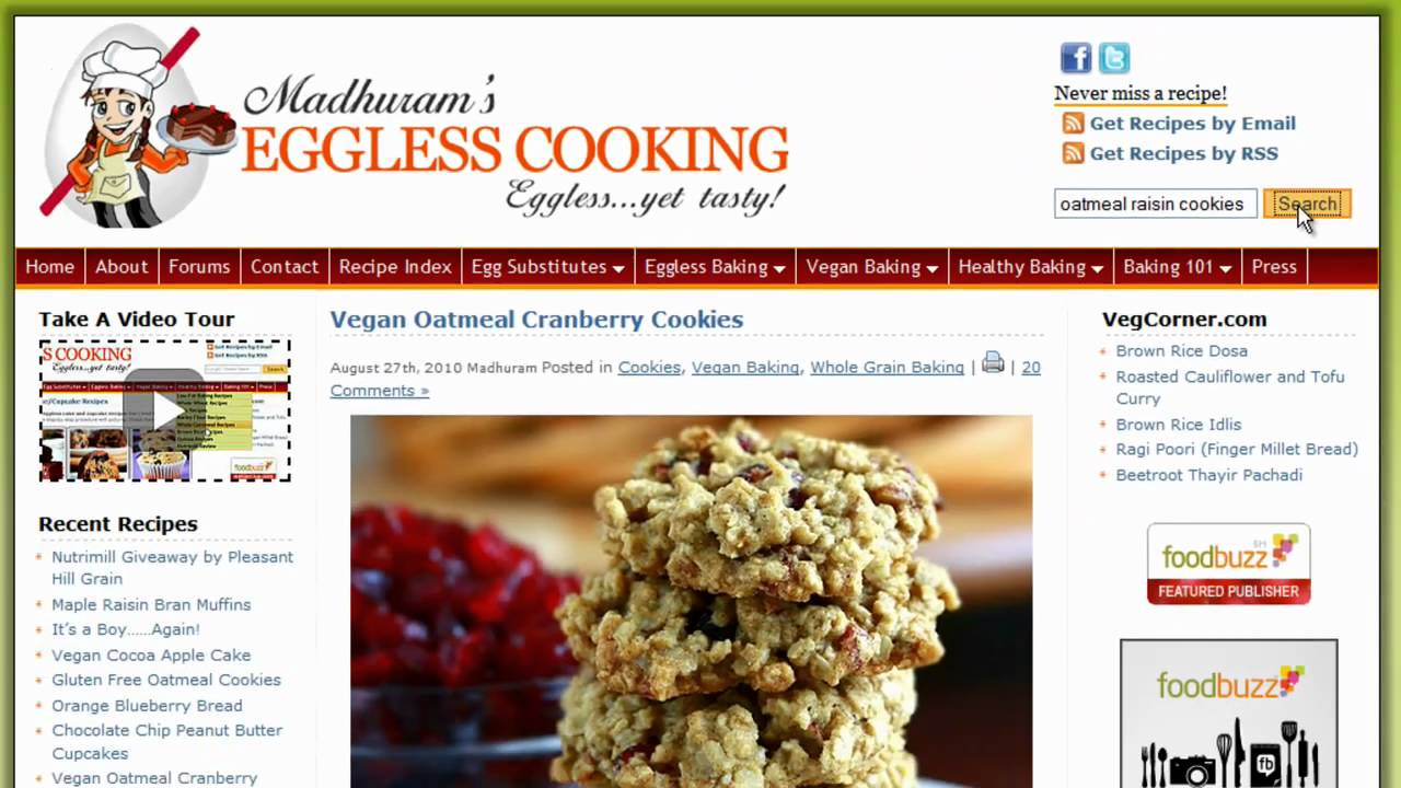EgglessCooking.com Video Tour - YouTube