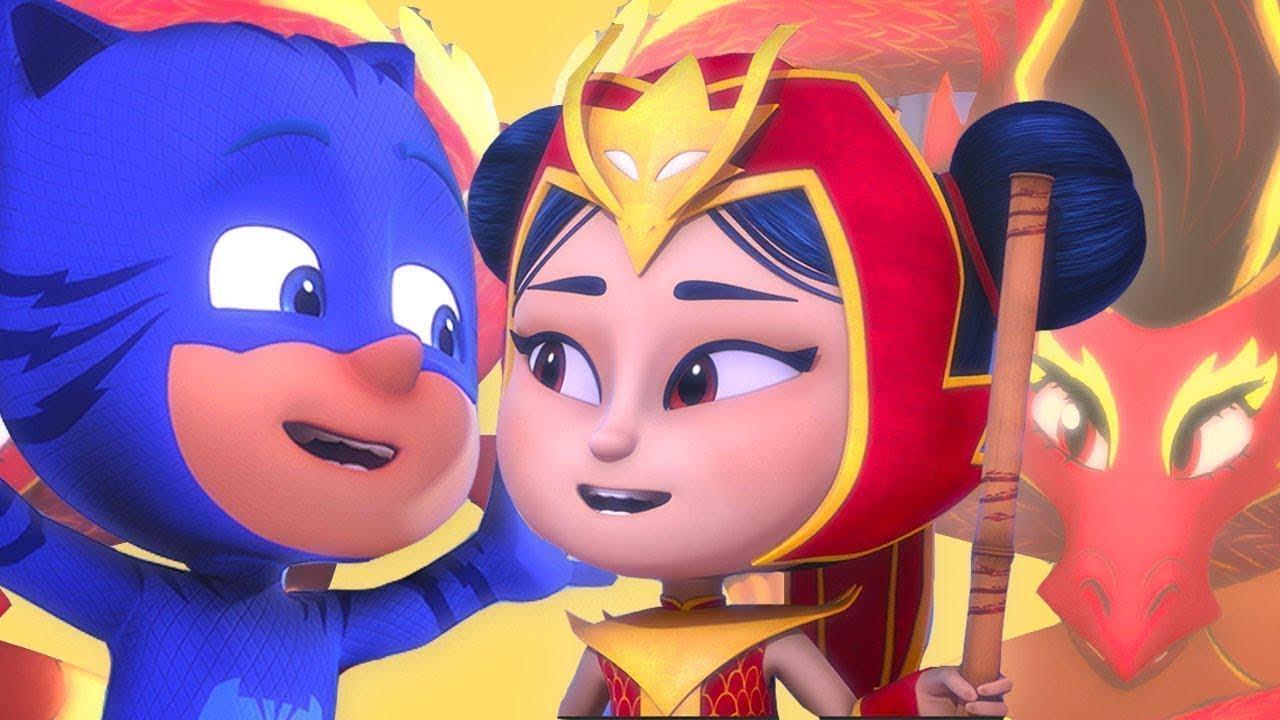 Ganze Folge: Das Drachenmädchen 🌟Neu! 🌟 PJ Masks Deutsch   Cartoons für Kinder   Pyjamahelden