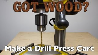 Make A Rolling Drill Press Cart