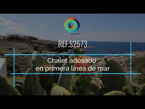 Chalet en primera línea con vistas al mar en venta en Binibeca Vell