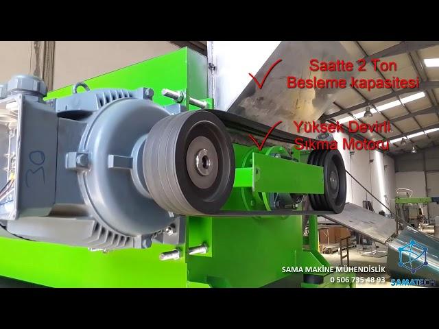 Pet Geri Dönüşüm - Kurutucu Sıkma Makinesi ve Çökertme Konveyörü