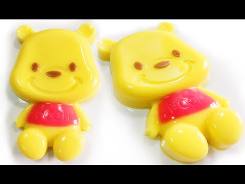 วิธีทำวุ้นแฟนซีรูปหมีพูห์ใหญ่ - How to make big Pooh jelly