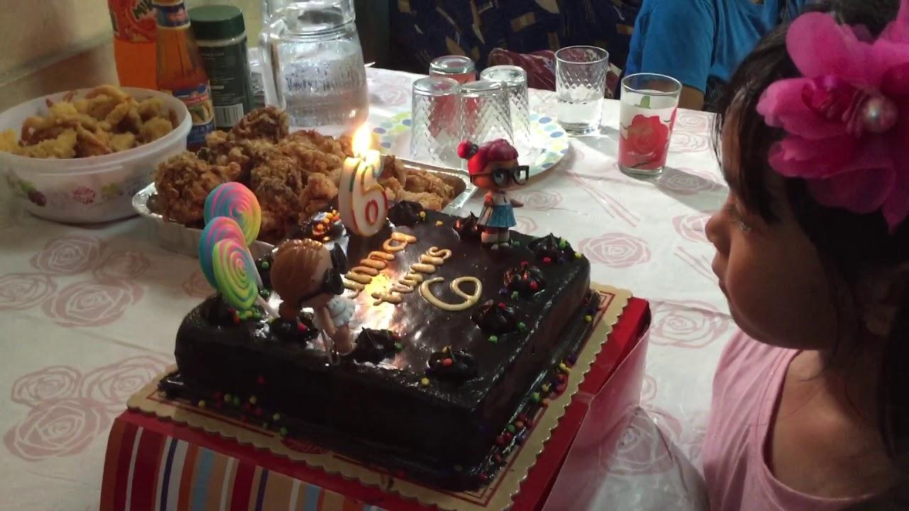 Diy Lol Birthday Cake With Red Ribbon Cake Youtube