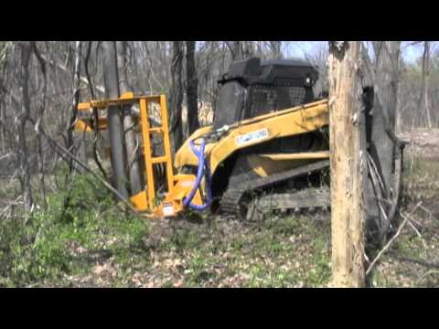 Ryan S Equipment Saw For Skid Steers Youtube