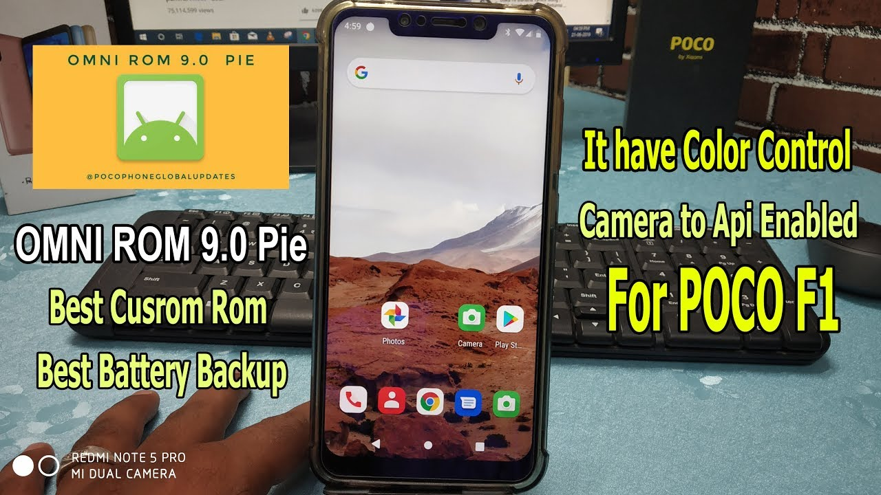 Omni ROM Android 9 Pie For Poco F1 || Hindi ||