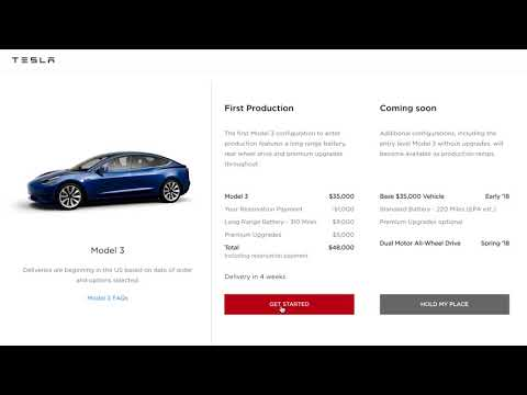 putting your Model 3 reservation on hold
