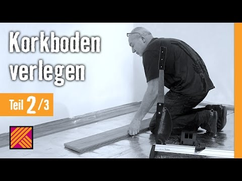 version 2013 korkboden verlegen kapitel 2 dielen verlegen hornbach meisterschmiede youtube. Black Bedroom Furniture Sets. Home Design Ideas