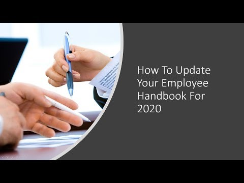 HR Rescue: How To Update Your Employee Handbook For 2020