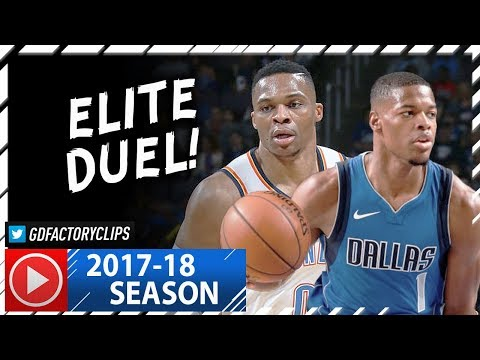 Russell Westbrook vs Rookie Dennis Smith Jr. Duel Highlights (2017.11.12) Thunder vs Mavs - SICK!