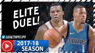 Russell Westbrook vs Rookie Dennis Smith Jr. Duel Highlights (2017.11.12) Thunder vs Mavs - SICK!