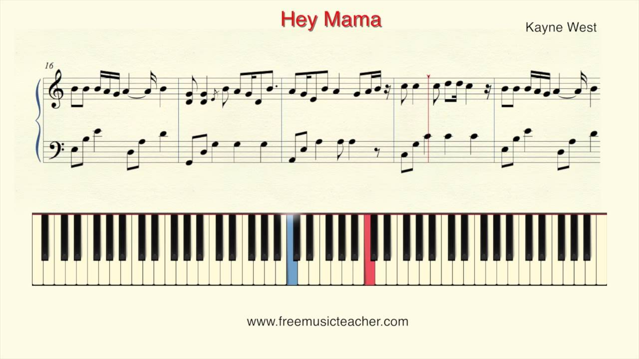 How to play piano kayne west hey mama piano tutorial by ramin how to play piano kayne west hey mama piano tutorial by ramin yousefi malvernweather Image collections