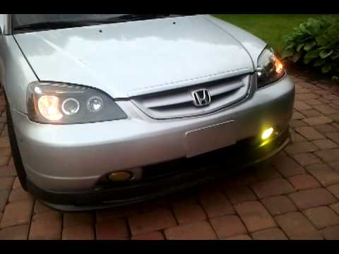 Strobe Fog Lights 2002 Civic Ex   YouTube