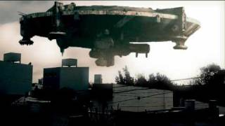 District 9 - Spaceship over city - Adobe After Effects
