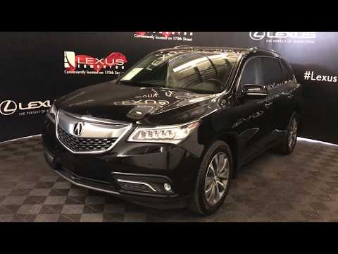 Black 2016 Acura MDX Elite Pkg Review Edmonton Alberta - Lexus of Edmonton