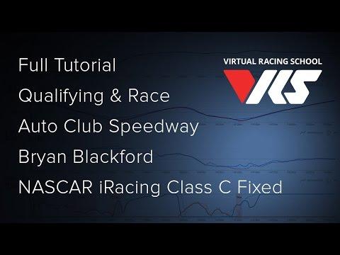 NASCAR iRacing Class C Fixed - Auto Club Speedway - Tutorial