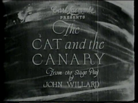 1927 - The Cat and the Canary (El legado tenebroso)