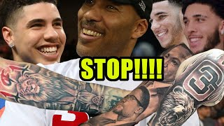 MORE TATTOOS -Lavar speaks on Lamelo Lonzo & Liangelo New Tattoos!!! (SOON Will COVER EVERYTHING!)