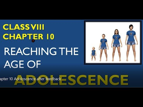 Reaching The Age Of Adolescence Class 8 Science Chapter 10 Explanation In Hindi
