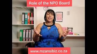 Role of the NPO Board