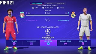 FIFA 21 | Liverpool vs Real Madrid - Quarter-Final UEFA Champions League UCL - Full Match & Gameplay