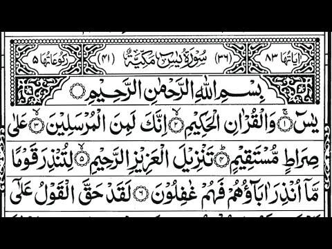 Surah Yasin In Arabic