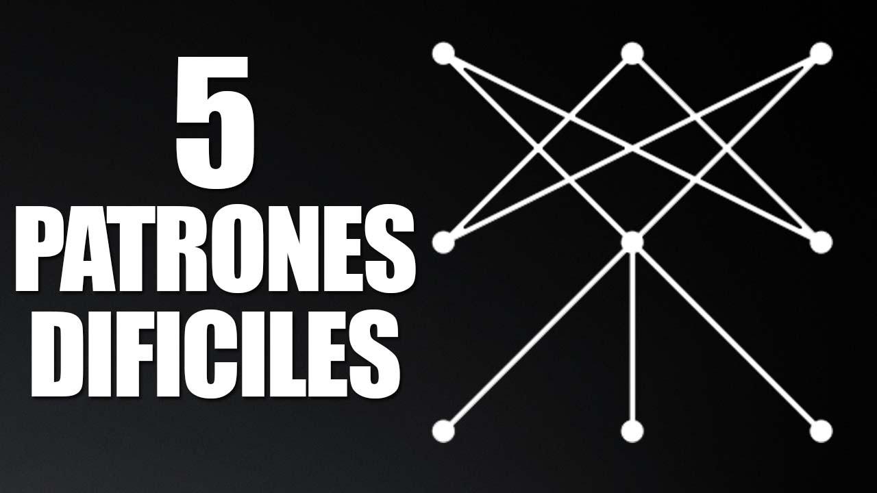 5 Patrones De Bloqueo Dificiles Para Android | MÁXIMA SEGURIDAD En ...