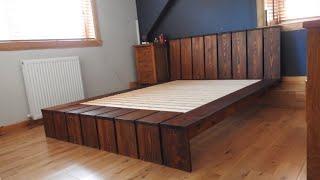 Rustic Pine Bed