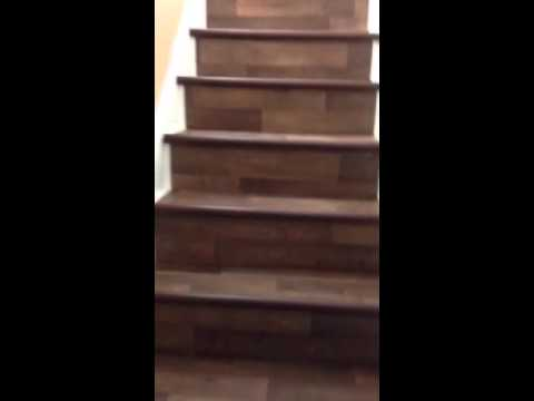 Vinyl floor covering for bull nosed stairs solution 2  YouTube