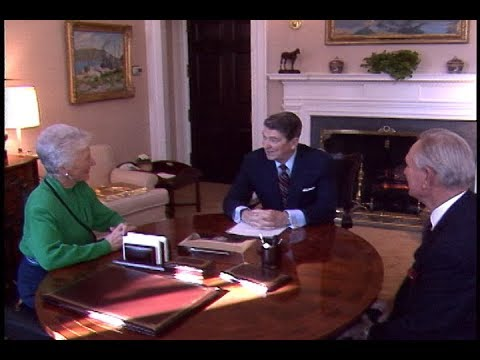 President Reagan's Farewell Meeting with Dr. Burton Smith on January 28, 1987