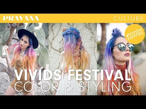 Festival Hair Color + Styling How-To with Brittany Balyn | VIVIDS FESTIVAL