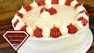 The BEST Moist Vanilla White Layer Cake |How to Make a Homemade Birthday Cake |Cooking With Carolyn