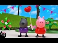 Peppa Pig's Surprise Birthday Party at the Burger with all her Friends - Peppa Pig Toys Videos