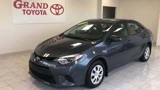 Gray 2014 Toyota Corolla CE Review   - Grand Toyota