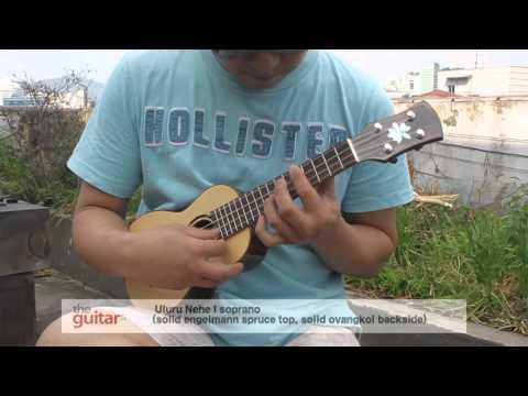 Uluru Nehe I soprano ukulele _ solid spruce top, solid ovangkol backside