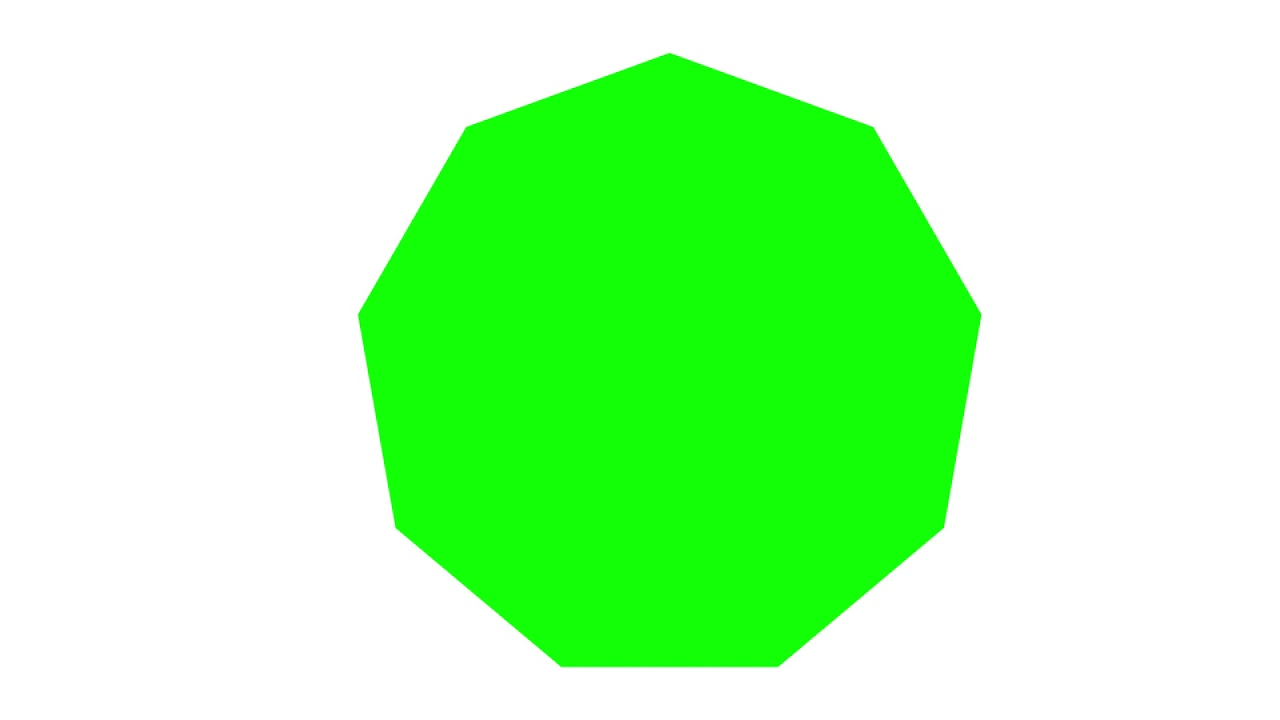 Green Nonagon White Background Left To Right Youtube