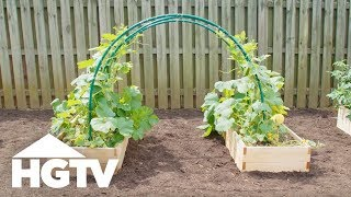 Gambar cover Easy PVC Garden Trellis - Way to Grow - HGTV