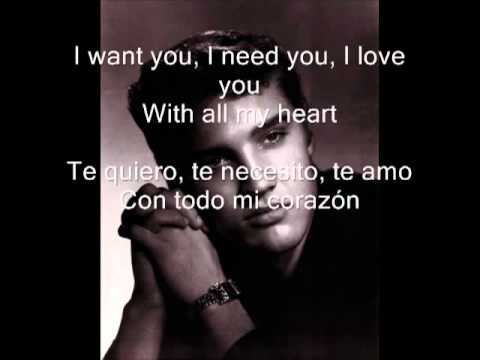 ELVIS PRESLEY-I want you I need you, i love you.flv Videos De Viajes