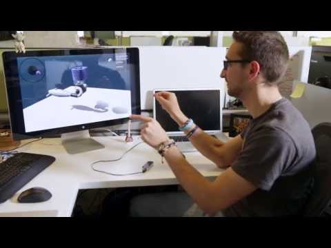 Design, create and fabricate in 3D space with Autodesk + Leap Motion