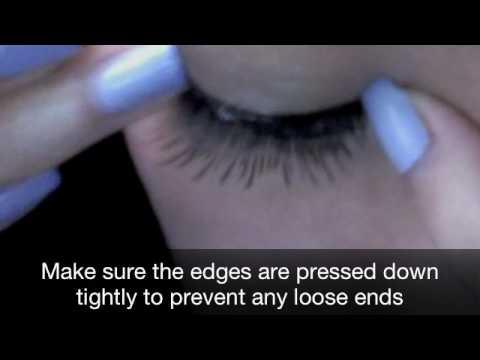 Application: E.L.F. False Lashes - Natural Lash Kit - YouTube