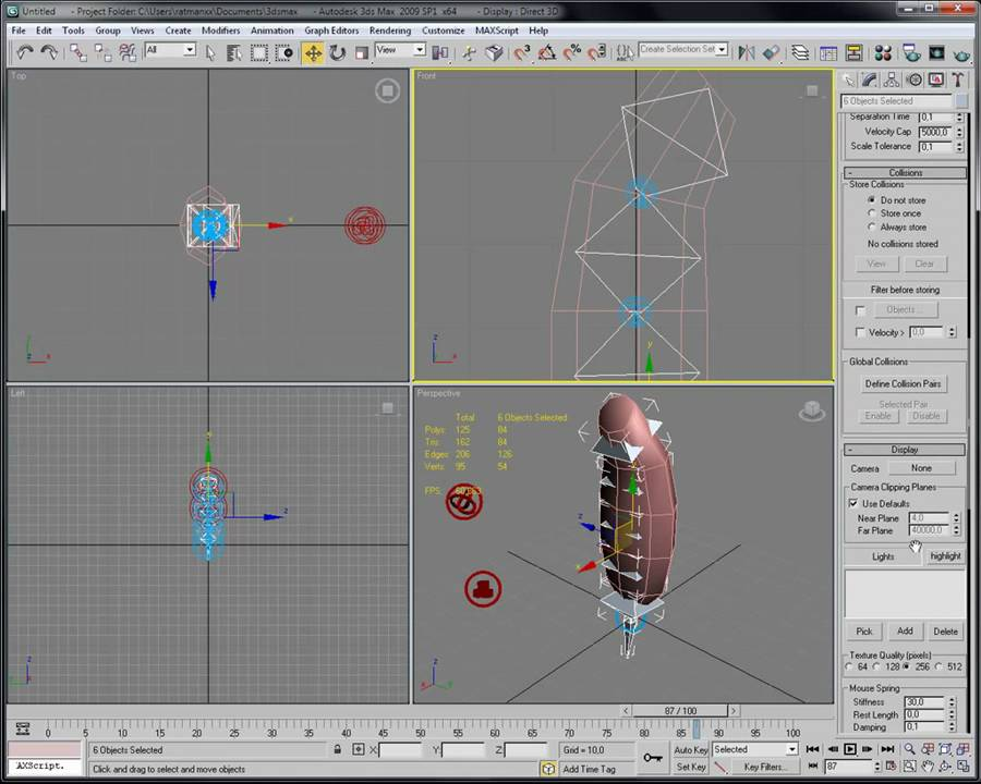 How to make ragdoll physics with 3ds max's reactor (TUTORIAL)