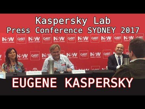 Eugene Kaspersky & Kaspersky Lab Press Conference Sydney 2017