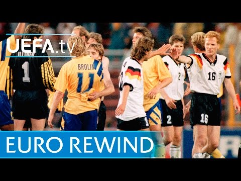 EURO 1992 Highlights: Sweden 2-3 Germany