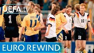 EURO 1992 Highlights: Sweden 2-3 Germany