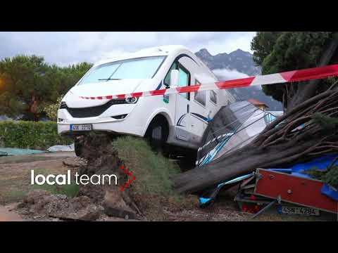 Maltempo alto Garda, danni: camping devastato a Torbole