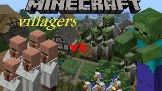 Minecraft Zombie invasion villagers vs zombies