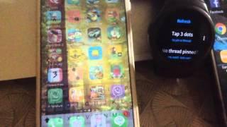 Gear S2: Send direct message to WhatsApp, Fb Messenger, Hangouts, Skype, KakaoTalk, Line, Telegram