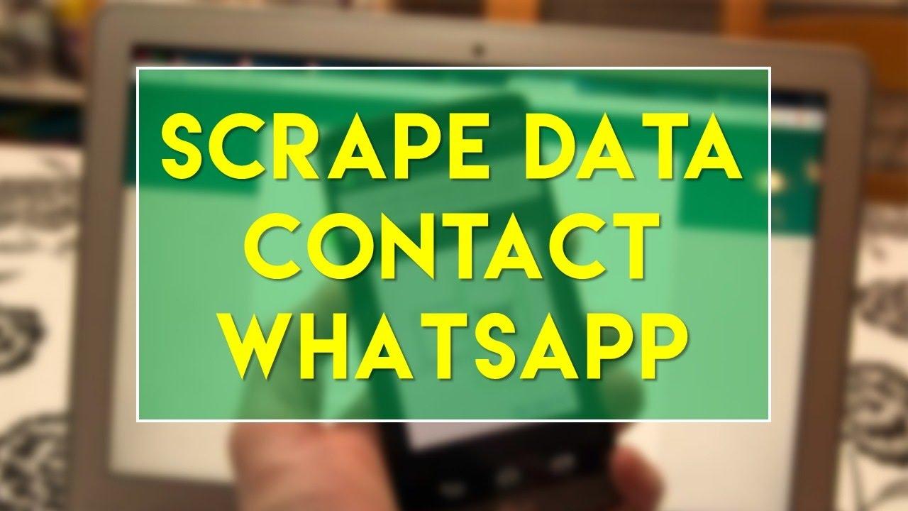 Cara Mudah Scrape Data Contact Whatsapp Dengan Imacros